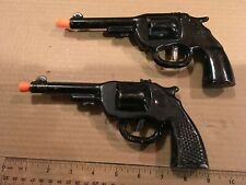 2 - VINTAGE Toy Gun Wyandotte Antique Pistol Pressed Steel - 1 clicker, 1 dart