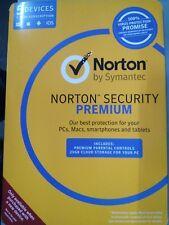 Symantec Norton Security Premium 2018  5 Device 1 Year PC MAC Ios Android Tablet