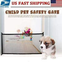 Portable Pet Barrier Fences Mesh Dog Gate Baby Safety Separation Guard Net Large