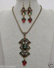 Polki Style Antique Gold Collar/Choker/Charm Necklace/Earrings Set by Teknowear