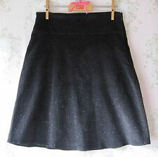 Rare! Star Space Galaxy Metallic Glitter Stretch Cord Velvet Skirt Black Silver