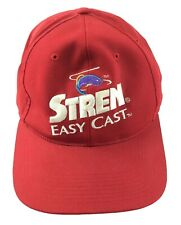 Stren Easy Cast Fishing Gear Red Embroidered Ball Cap Baseball Hat USA