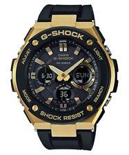 Casio G-Shock G-Steel Analogue/Digital Black/Gold Solar Mens Watch GSTS100G-1A G