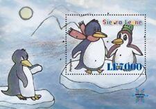 Sierra Leone- Penguins Stamp - S/S MNH