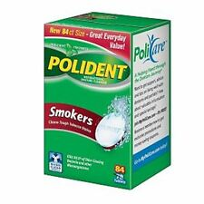 Polident Smokers, Antibacterial Denture Cleanser 84 ea