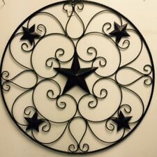 "32"" STAR METAL BARN WALL ART WESTERN HOME DECOR RUSTY BRONZE"