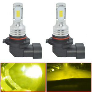 2x 9006 HB4 LED Fog Light Bulbs 80W 1000LM 4300K Yellow Error Free Lamps