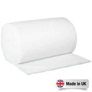 """Fire Retardant Polyester Wadding Roll Quilting Upholstery Padding 27"""" - 54"""" Wide"""