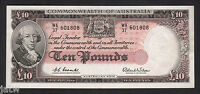Australia R-63. (1960) Ten Pounds - Coombs/Wilson..  Reserve Bank.. gEF-aU