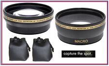 2Pc Lens Kit Pro HD Wide Angle & Telephoto Lens Set for Panasonic Lumix DMC-G3