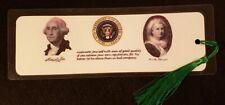 "Presidential Bookmark - Hand Made - Choose President - Laminated 5 ml - 8"" x 3"""