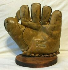 "1930s Excelsior 1"" Web Split Finger Vintage Baseball Glove Old Antique"