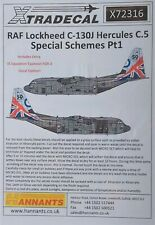 Xtradecal 1/72 X72316 RAF C-130J Hercules Special Schemes Pt 1 Decal Set