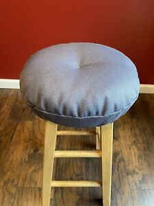 Graphite Gray Bar stool cushioned cover in Upholstery Fabric