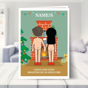 Funny Christmas Cards for Couples Adult Humour Mum Dad Son Daughter Chestnuts