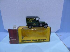 MATCHBOX YESTERYEAR Y 5 TALBOT LIPTONS TEA WITH CREST 12 SPOKE CHROME WHEELS