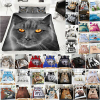 3d Animal Print Duvet Cover Set New Bedding Pillowcases King Double Single Size