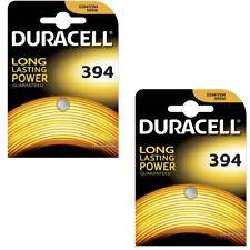 2xDuracell 394 1.5V Silver Oxide watch battery D394 V394 V524 SR45 AG9 625 SR936