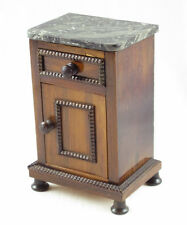Antique French Art Deco Miniature Doll House Nightstand Chest Dresser Marble Top