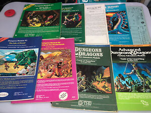 Dungeons & Dragons Module Lot AD&D D&D X1 B2 X3 I2 S1 A1 Horror On The Hill
