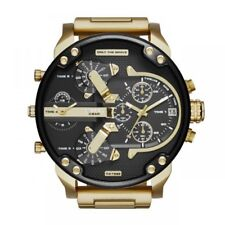 DIESEL DZ7333 Mr Daddy 2.0 Hombre Cronografo Acero Inoxidable Dorado Watch