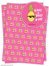 Brainbox Candy Confiserie b-jour PAPIER EMBALLAGE CADEAU 2 feuilles Anniversaire