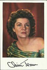1910-2000 CLAIRE TREVOR, vintage colour magazine photograph ORIGINALLY SIGNED!