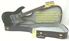 Spectrum electric guitar, Tkl chipboard case, Strat Body Mirror Pickguard Nos