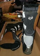 Fox Racing Tracker Boots Size W9 Black White