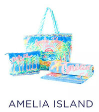 Lilly Pulitzer Destination Collection: Amelia Island Tote, Pouch & Towel Set NWT