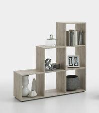 Raumteiler Mega 1, Sandeiche NB, Stufenregal, Standregal, Bücherregal, 6 Fächer