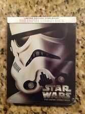 The Empire Strikes Back (Blu-ray Disc,2015,SteelBook)NEW Authentic Disney US