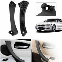 Black Left Inner Door Panel Handle Pull Trim Cover Fit BMW E90 316 3Series Sedan