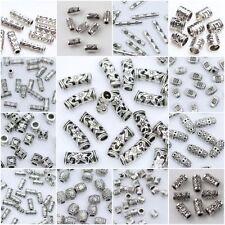 20/50/100pcs Tibetan Silver Loose Tube Spacer Beads Charms Jewelry Making DIY(*