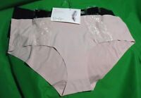 2 JESSICA SIMPSON SIMPLY SMOOTHING MICROFIBER FULL FIGURE HIPSTER PANTIES 2X