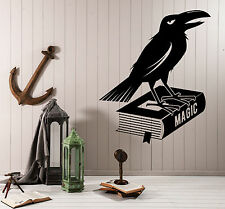 Wall Stickers Vinyl Decal Black Crow Magic Book Home Decor z4694