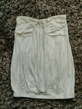 NEW STRAPLESS BOOBTUBE TOP GOLD TO FIT SIZE 8