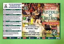 #T8.  1999  AFL / GAELIC INTERNATIONAL RULES  FIXTURE CARD, AUSTRALIA V IRELAND