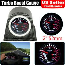 Turbo Boost Gauge Meter Pressure 52mm 2�Digital Led Light Smoke Tint 30Psi 12V