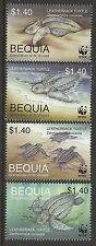 ST VINCENT GRENADINES BEQUIA WWF WORLD WILDLIFE FUND 2001 TURTLES 4v MNH
