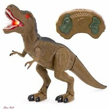 Walking Dinosaur Kids Toy Remote Control T-Rex Lights Sounds Action Figures NEW