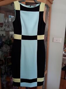 Retro Style Maggy London Dress Size (6) Fully Lined Funky Cool Dress! Like New!!