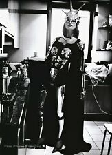 1993 Vintage HELMUT NEWTON Female Fashion Model EVA Chrome Armor Photo Art 16X20