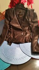 bebe leather jacket brand new size small