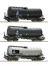 ROCO 76156 Juego de 3 VTG Vagón cisterna DBAG con cambio de eje si lo desea
