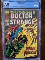 Doctor Strange #174 CGC 7.0 (Marvel 1968) Satannish & Nekron appearance.  Key!