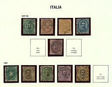 Italy 1879/89 range of King Umberto I issues to include sg31, sg32, sg33, Stamps