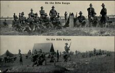 US Army c1910 - On the Rifle Range - Publ in Chattanooga TN Postcard