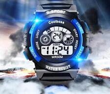 Kinder Mädchen Jungen Uhr Armbanduhr Wasserdicht Licht Digital Silikon Sportuhr