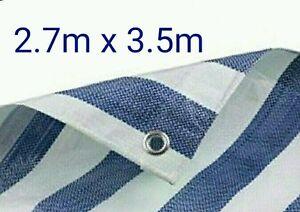 MARKET STALL HEAVY DUTY TARPAULIN BLUE & WHITE (2.7M x 3.5M) SHEET COVER